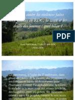 La lutte contre les violences faites aux femmes en RDC, la santé et les droits des femmes