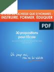 BAYROU instruire et instruction 30 Propositions
