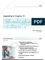 Upgrading to Cognos10 Info and Practices