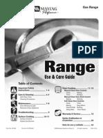 Maytag Range Manual