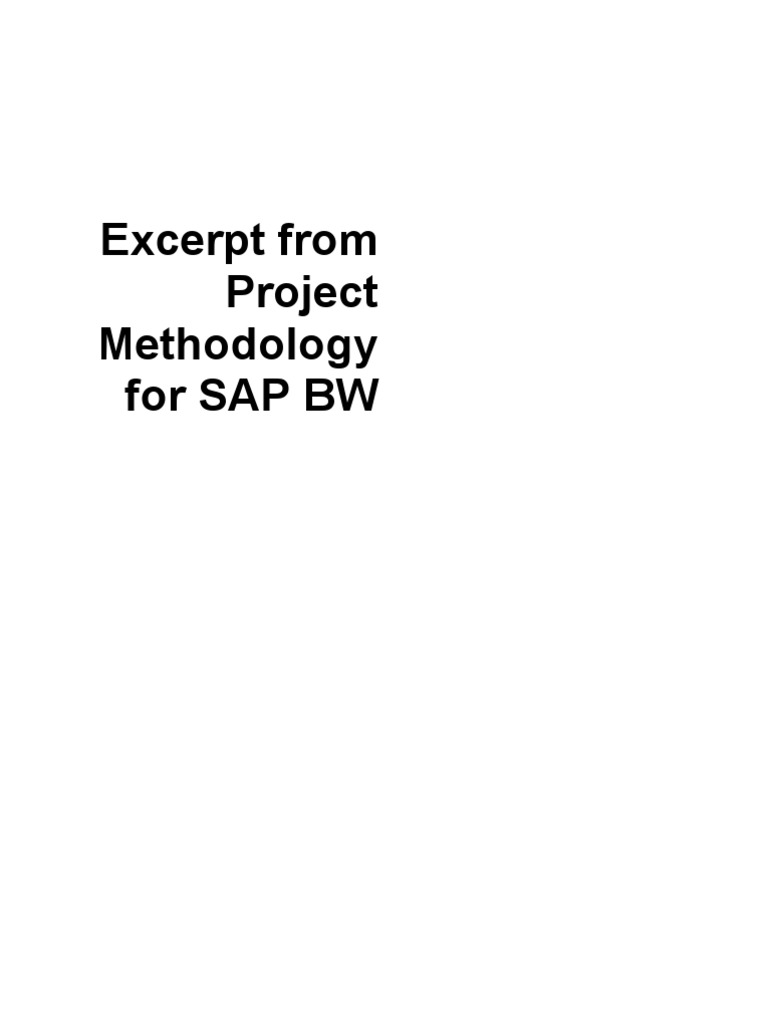 Bw project plan methodology project management data warehouse malvernweather Gallery