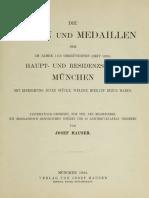 Die Münzen und Medaillen der im Jahre 1156 gegründeten (seit 1255) Haupt- und Residenzstadt München mit Einreihung jener Stücke, welche hierauf Bezug haben / von Josef Hauser