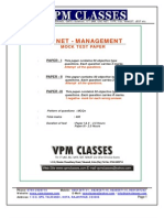 Vpm Classes - Free Solved Paper _new Pattern_ Ugc Net Management 2012