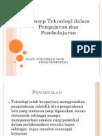 Konsep Teknologi Dalam P&P