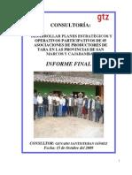 Planes Estratégicos de Tara - San Marcos y Cajabamba