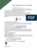 FIX .NET Installation Problem