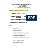 2012 Maryland House Bill Hearing Action Pack