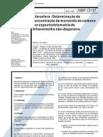 NBR 13157 - 1994 - Atmosfera - Determinacao Da Concentracao de Monoxido de Carbono Por Espectrofotometria de Infravermelho Nao-dispersivo