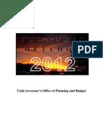 2012 Economic Outlook (State of Utah)