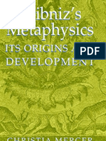 Christia Mercer - Leibniz's Metaphysics - Its Origin and Development