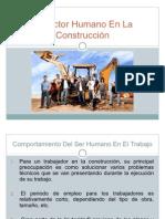 El Factor Humano en La Construccion