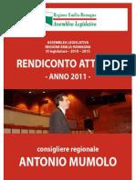 RENDICONTO 2011 - Consigliere regionale Antonio Mumolo