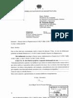 Parecer do Conselho Superior de Magistratura sobre os Projectos de Lei 4/XII/1.ª (BE), 5/XII/1.ª (BE), 11/XII/1.ª (PCP) e 72/XII/1.ª (PSD, CDS-PP)