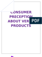 Consumer Precept Ion About Verka Products