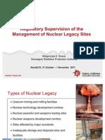 Регулирующий надзор за обращением с объектами ядерного «наследия»