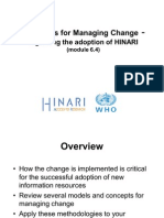 Module 6 4 Strategies for Managing Change for HINARI English 10 2009