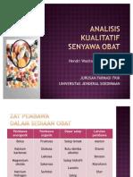 Analisis Kualitatif Senyawa Obat Fix