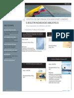 Boletín novedades bibliográficas CINU Bogotá Febrero