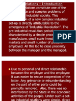 Industrial Relations - Unit I