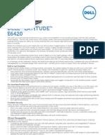 Latitude e6420 Spec Sheet