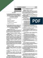 Ley 29071 - Ley Beneficios Integrantes Juntas Vecinales y Dia Juntas Seg Ciudadana