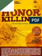 Honor Killings Flyer