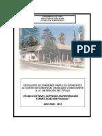 Cedulario Curso Suboficial Graduado 2008 - 2010[1]