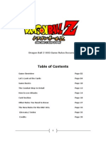 Dragon Ball Z OCG Game Rules Document