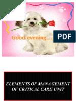 Elements of Management of Critical Care Unit