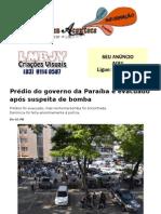 Prédio do governo da Paraíba é evacuado após suspeita de bomba