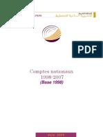 Les Comptes Nationaux 1998-2007 (Base 1998)