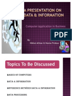 A Presentation on Data & Information