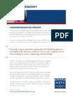Under-represented Education Fact Sheet