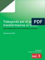 Ideas Programaticas de Los Socialistas Andaluces - Autonomicas 2012