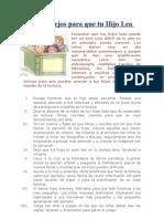 20 Consejos Para Que Tu Hijo Lea