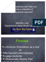 Create a PLC and a Website With School Loop