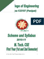 Booklet MTech CSE1 2nd Sem 2010 11