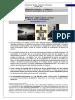 20. ACTUALIDAD DEL MALESTAR DE LA CULTURA