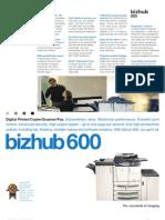 Bizhub 600 Spec Sheet Ph2V1