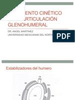 Movimiento cinético de la articulación glenohumeral e introduccion biomecanica del codo