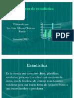 Curso de estadística aplicada al Turismo