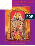 Lord Balaji Miracles and Vratham English Book