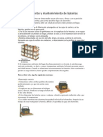Almacenamiento y mantenimiento de baterías