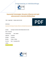 Exponential Technologies SCHB #ACSSanDiego
