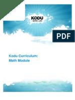 Kodu Curriculum Math Module