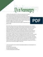 39 MCQ's in Neurosurgery