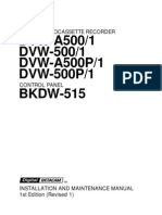 Sony DVW-A500 / BKDW-515 Installation and Maintenance Manual