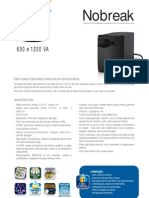 Catalogo de Nobreak SMS Net Station 600 e 1200 VA (22800 110417)
