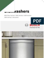 Bosch Pacific Sales Dishwasher Catalog