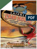 Laishley Crab House Dinner Menu